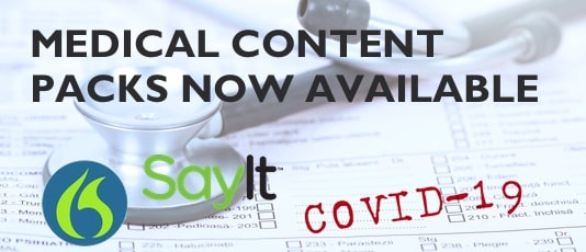 COVID-19 Content Packs for SayIt and Dragon Medical Practice Edition