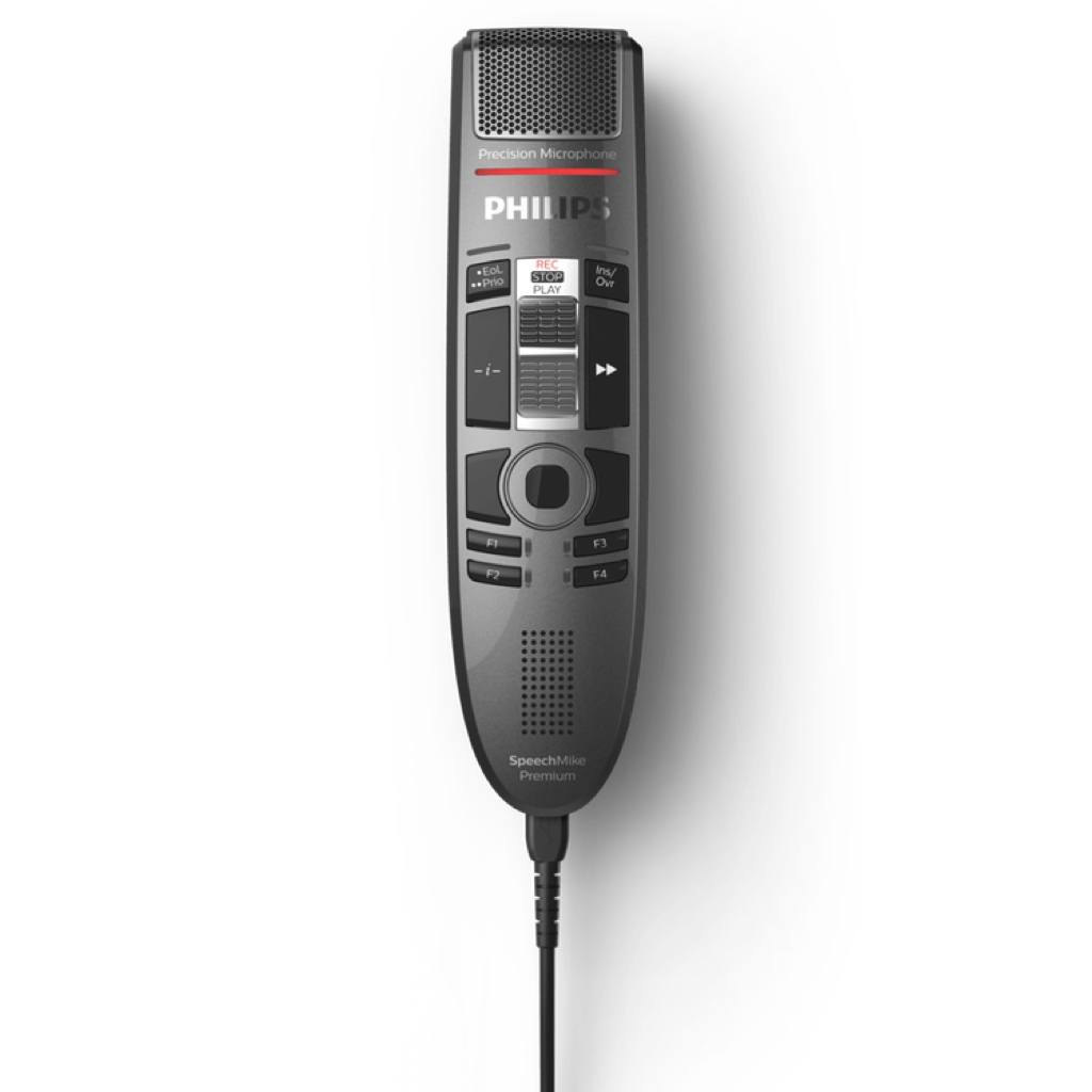 Philips SpeechMike Premium Touch with Slide Switch Front View
